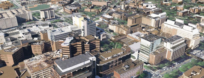 Aerial view of Vanderbilt