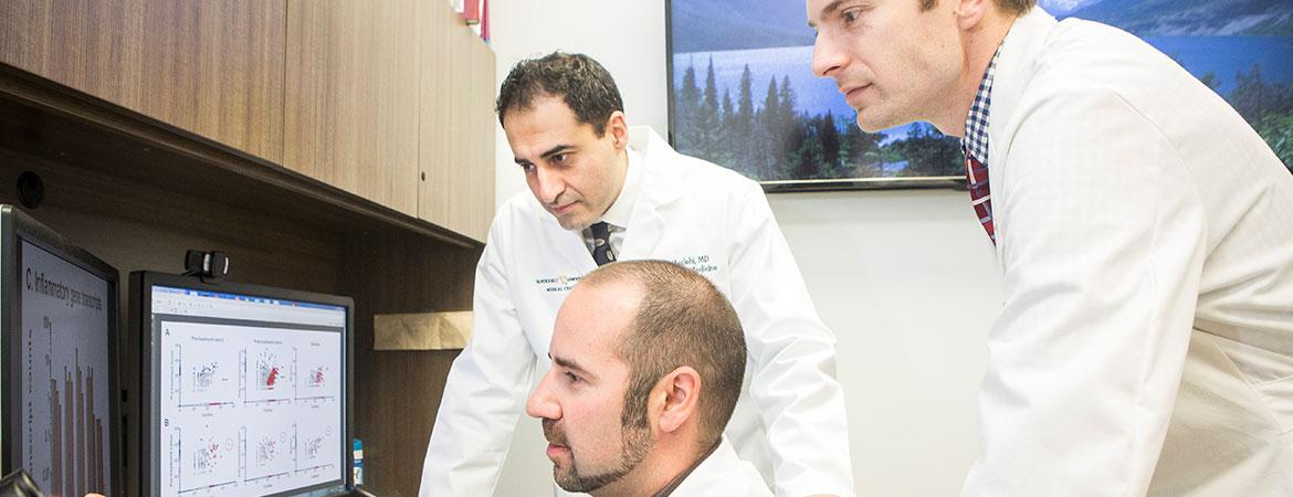 Javid Moslehi, MD (V-POINT Co-Director); Justin Balko, PharmD, PhD; and Doug Johnson, MD (V-POINT Co-Director)